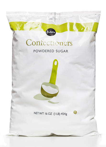 Miami, USA - May 13, 2014: Publix Confectioners powdered sugar 16 OZ plastic bag. Publix brand is owned by Publix Asset Management Company.